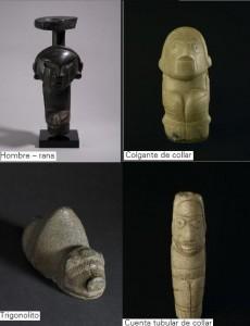 hombre-rana-colgante-de-collar-trigonolito-cuenta-tubular-de-collar-cultura-taina