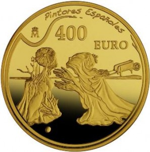 Moneda colección, 400€, óleo Tristán e Isolda