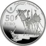 Moneda colección, 50€, óleo La tentación de San Antonio