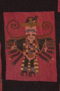 Detalle  figurativo de un manto, Museo de América
