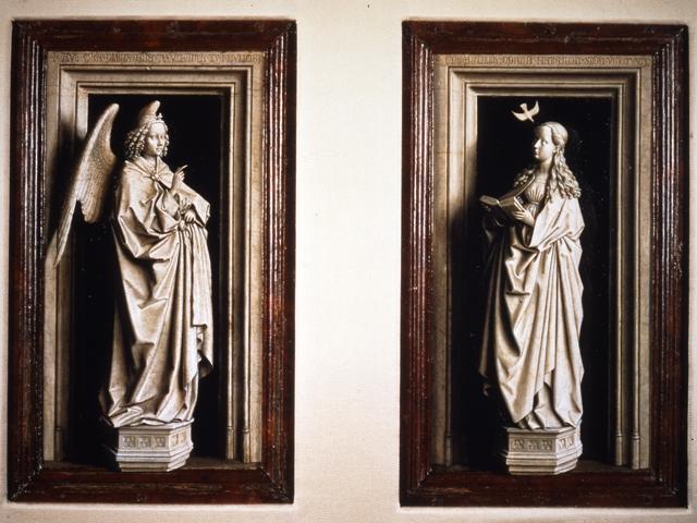 Van Eyck, Jan - Diptico Anunciacion (Museo Thyssen)
