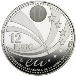 Moneda de colección 12 euros Presidencia Española UE reverso
