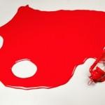Derrame rojo, Paco Gómez, cortesía de Paco Gómez exposición Los Carpinteros
