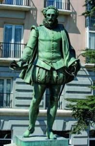 Cervantes 196x300 La cápsula del tiempo en la Real Casa de Correos