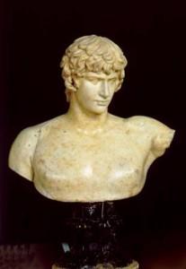 Escultura, Busto de Antinoo, anónimo s. II d.C. Museo del