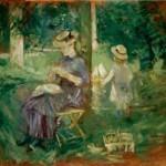 Berthe Morisot. Mujer y niña en un jardín, c. 1883‐1884.