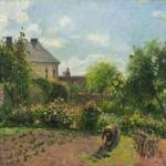 Camille Pissarro. El jardín del pintor en Eragny,