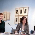 Elena Ochoa, Lourdes Garzón y Debra Smith en la rueda de prensa. Foto. Sebastián Marjanov