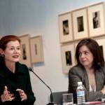 Elena Ochoa y Lourdes Garzón en la rueda de prensa. Foto. Sebastián Marjanov