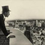 Marín, El Rey en la terraza del nuevo edificio de Telefónica, Madrid, 1928, R-03439