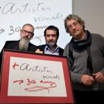 Miquel Tàpies, Joan Fontcuberta -president AAVC- y Florenci Guntín -secretari general AAVC