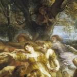 Pedro Pablo Rubens, Detalle, Danza de personajes mitológicos y aldeanos, Museo del Prado