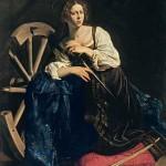 Caravaggio. Santa Catalina de Alejandría , c. 1598, Museo Thyssen, Fundación Caja Madrid