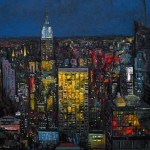 la noche nueva york 80×80 cm [750X550] Ulpiano Carrasco