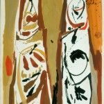 Mujeres griegas, 1968. Témpera y aguada s cartulina. 50 x 35 cm