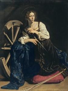 Caravaggio. Santa Catalina de 224x300 La Mujer en el Arte Heroínas