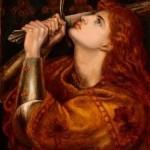 Dante Gabriel Rossetti. Juana de Arco, 1882. Préstamo
