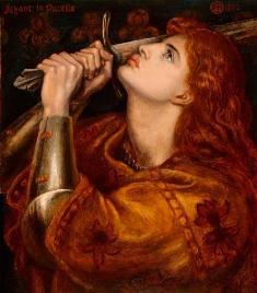 Dante Gabriel Rossetti. Juana de Arco 1882. Préstamo La Mujer en el Arte Heroínas