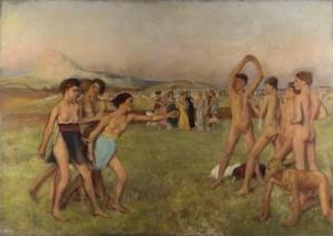 Edgar Degas. Jóvenes espartanas 300x213 La Mujer en el Arte Heroínas