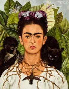 Frida Kahlo. Autorretrato con collar 231x300 La Mujer en el Arte Heroínas