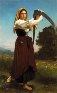 William‐Adolphe Bouguereau. La segadora 185x300 La Mujer en el Arte Heroínas