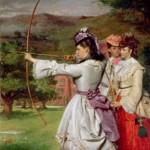 William Powell Frith. Las bellas arqueras, 1872. Royal
