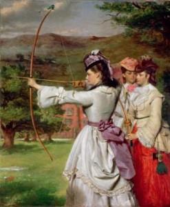 William Powell Frith. Las bellas arqueras 1872. Royal 247x300 La Mujer en el Arte Heroínas