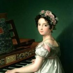 Zacarías G. Velázquez, Manuela González Velázquez. tocando el piano.s.XIX.Fundación Lázaro Galdiano