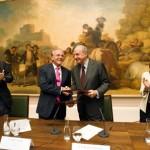 Presidente Fundación Caixa,Isidro Fainé.Presidente Patronato Museo Prado, Plácido Arango.Director Museo Prado, Miguel Zugaza  (3)