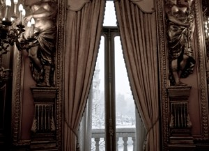 Vista exterior nevado desde el salon de Embajadores