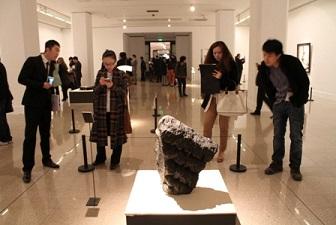 Leiro en la exposición de Picasso a Barcelo