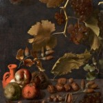 3 Bodegón con uvas, manzanas, nueces y jarra de terracota. Juan Fernández »el Labrador». Coleccion Particular