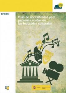 Portada guía accesible, Fundación CNSE, Ministerio Educación, Cultura y Deporte