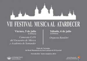 VII Festival Música al atardecer. Patrimonio Nacional. San Lorenzo de El Escorial.
