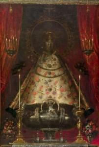2.La Virgen de Atocha. Juan Carreño de Miranda. Óleo sobre lienzo, 218x 148 cm h. 1680. Madrid, Museo Nacional del Prado