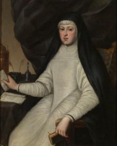 3.Mariana de Austria, reina de España. Anónimo. Óleo sobre lienzo, 97x 79 cm. Segunda mitad del siglo XVII. Madrid, Museo Nacional del Prado