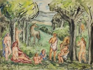 Despois do baño, Colmeiro, Fundación Laxeiro