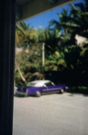 Pablo Pérez Minguez,PPM. Silver Sand Beach Resort en Miami.Recién despierto abro la cortina del motel y detrás del mosquitero veo todo ésto. Diciembre de 2006. Expo. Centro Niemeyer