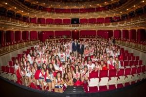 Bienvenida en el Teatro María Guerrero del Centro Dramático Nacional a los cuatro grupos finalistas de la 10ª edición de los Premios Buero de Teatro Joven