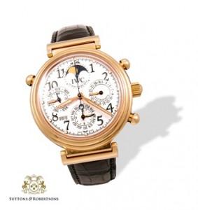 1. Reloj IWC, Da Vinci de oro. Cronógrafo. Fase lunar. Calendario perpetuo, Ratrapante. Joyas - Suttons & Robertsons