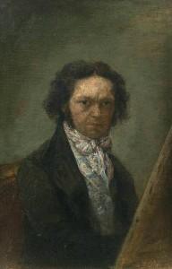 Francisco Goya y Lucientes,  1796 - 1797, autorretrato, óleo sobre lienzo, 18,2 cm x 12,2 cm. Museo del Prado