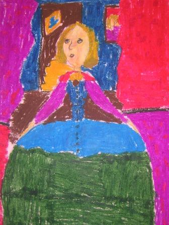 Margarita, dibujo niño. LOGOPRESS