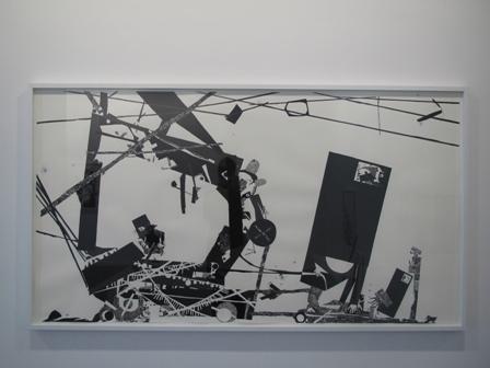 Abigail Lazkoz_Verbena de cartón y rectángulo_2011-2012_Tinta pigmentada y caseína sobre papel_97x180cm