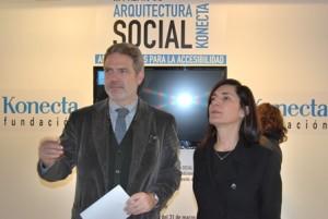 Ariadna Cantis, Arquitecta y Comisaria y el Decano del COAM