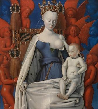 Jean Fouquet, Virgen Niño,Koninklijk Museum voor Schone Kunsten. Museo del Prado