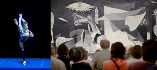 Josué Ullate frente al Guernica, Museo Reina Sofía p