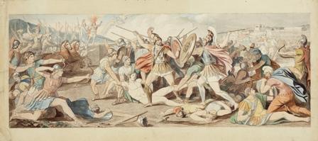 Disputa de griegos y troyanos  Museo N Prado D06937pq