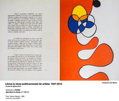 Derriere le miroir nº 173 (2) dedicado a Calder