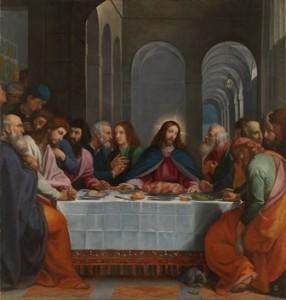 Última cena. B. Carducho, Museo del Prado