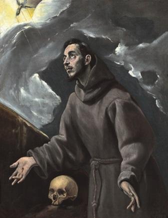Domenicos Theotocopoulos, el Greco.  La estigmatización de san Francisco